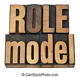 modèle rôle, type, letterpress