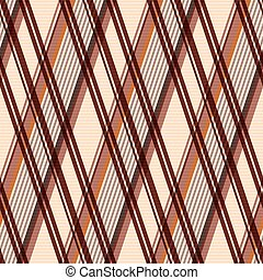 modèle, rhombic, seamless, brun
