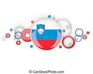 modèle, rond, slovénie, cercles, drapeau