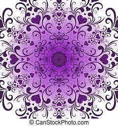 modèle, rond, violet