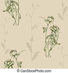 modèle, rose