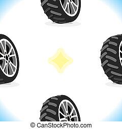 modèle, roues, seamless