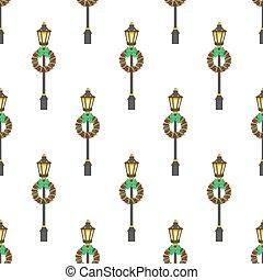 modèle, rue, lanterne