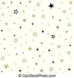 modèle, seamless, étoiles
