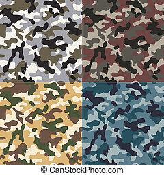 modèle, seamless, camouflage