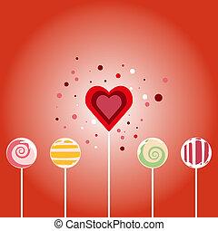 modèle, -, seamless, carte, valentin