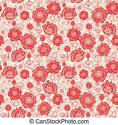 modèle, seamless, fond, pavot, fleurs, rouges