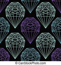 modèle, seamless, forme., cristal, vecteur, répéter, géométrique