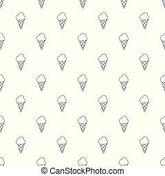 modèle, seamless, glace, vecteur, crème froide