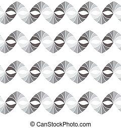 modèle, seamless, gris, couleurs, vecteur, retro, géométrique