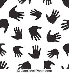 modèle, seamless, hands.