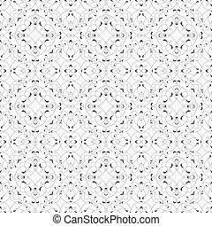 modèle, seamless, lines., vecteur, caligraphic, noir, blanc
