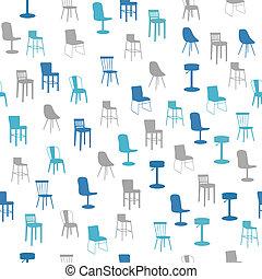 modèle, seamless, meubles