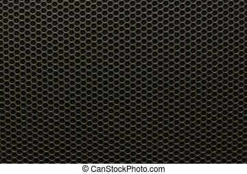 modèle, seamless, noir, orateur, fer, grille, texture