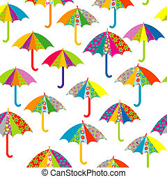 modèle, seamless, parapluies