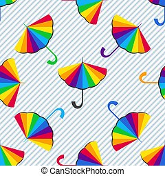 modèle, seamless, parapluies, multi-coloré