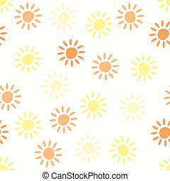 modèle, seamless, symboles, vecteur, fond, soleil