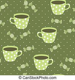 modèle, seamless, teacups