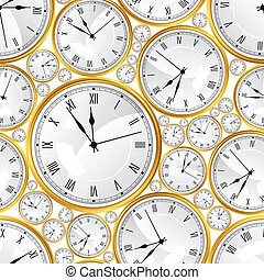 modèle, seamless, texture., vecteur, élégant, watches.