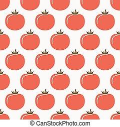 modèle, seamless, tomates