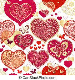 modèle, seamless, valentin
