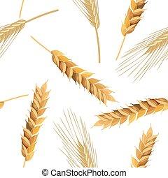 modèle, seigle, blé, seamless, oreilles