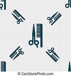 modèle, signe., seamless, cheveux, vecteur, géométrique, texture., icône