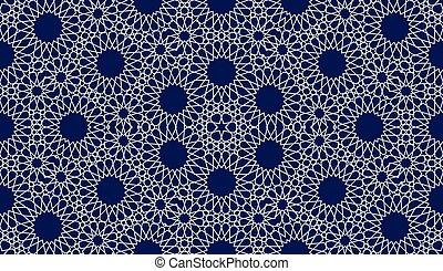 modèle, style, seamless, fond, islamique