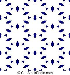 modèle, sur, seamless, fond, blanc, géométrique