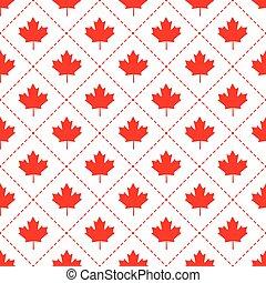 modèle, symbole, feuille, érable, canadien