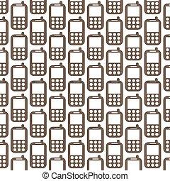 modèle, téléphone, fond, icône