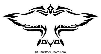 Kiwi Tatouage Stylise Noir Oiseau Blanc Beau Tatouage Kiwi Isole Illustration Stylise Noir Oiseau Blanc Canstock