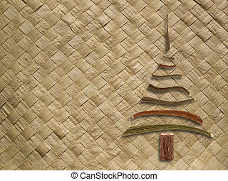 modèle, tissé, arbre noël