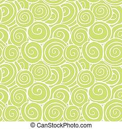 modèle, tourbillons, vert