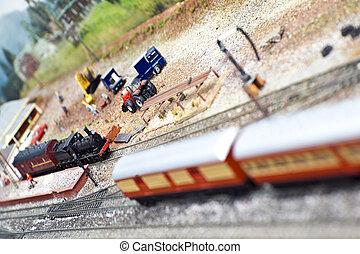 modèle, trains