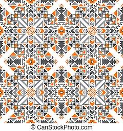 modèle, tribal, seamless, vecteur, ethnique, géométrique