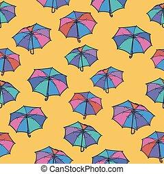 modèle, umbrella., seamless