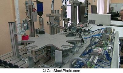 modèle, usine, automatisé