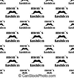 modèle, vecteur, seamless, mustache.