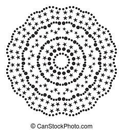 modèle, vecteur, symmetrical., illustration., circulaire