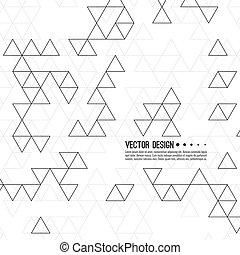 modèle, vecteur, triangles.