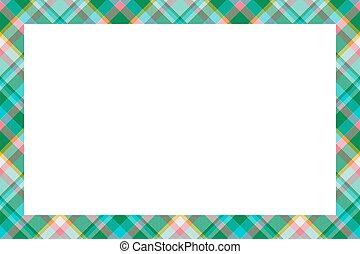 modèle, vector., tartan, plaid, vendange, écossais, cadre, style., retro, ornament., frontière