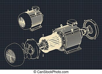 modèles, moteur électrique, démonté