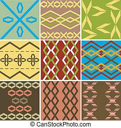 modèles, multiple, coloré, texture, ethnique
