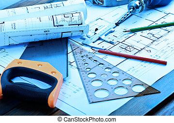 modèles, rouleaux, architectural