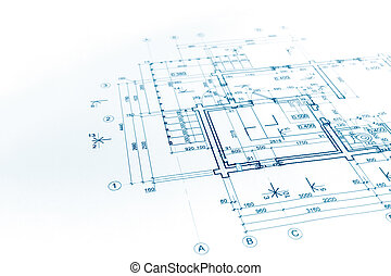 modèles, technique, construction, plan, fond, dessin