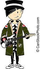 Mod Girl with Guitar