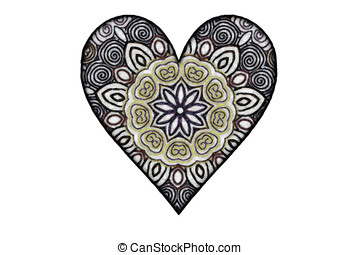 Mod heart #2 - Page art and ornamental