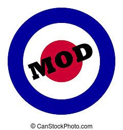 Mod music symbol - British Royal Air Force roundel, also...
