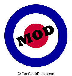 Mod music symbol - British Royal Air Force roundel, also...